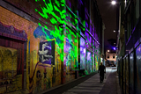 Interactive lighting preventing crime through environmental design, Wellington, New Zealand