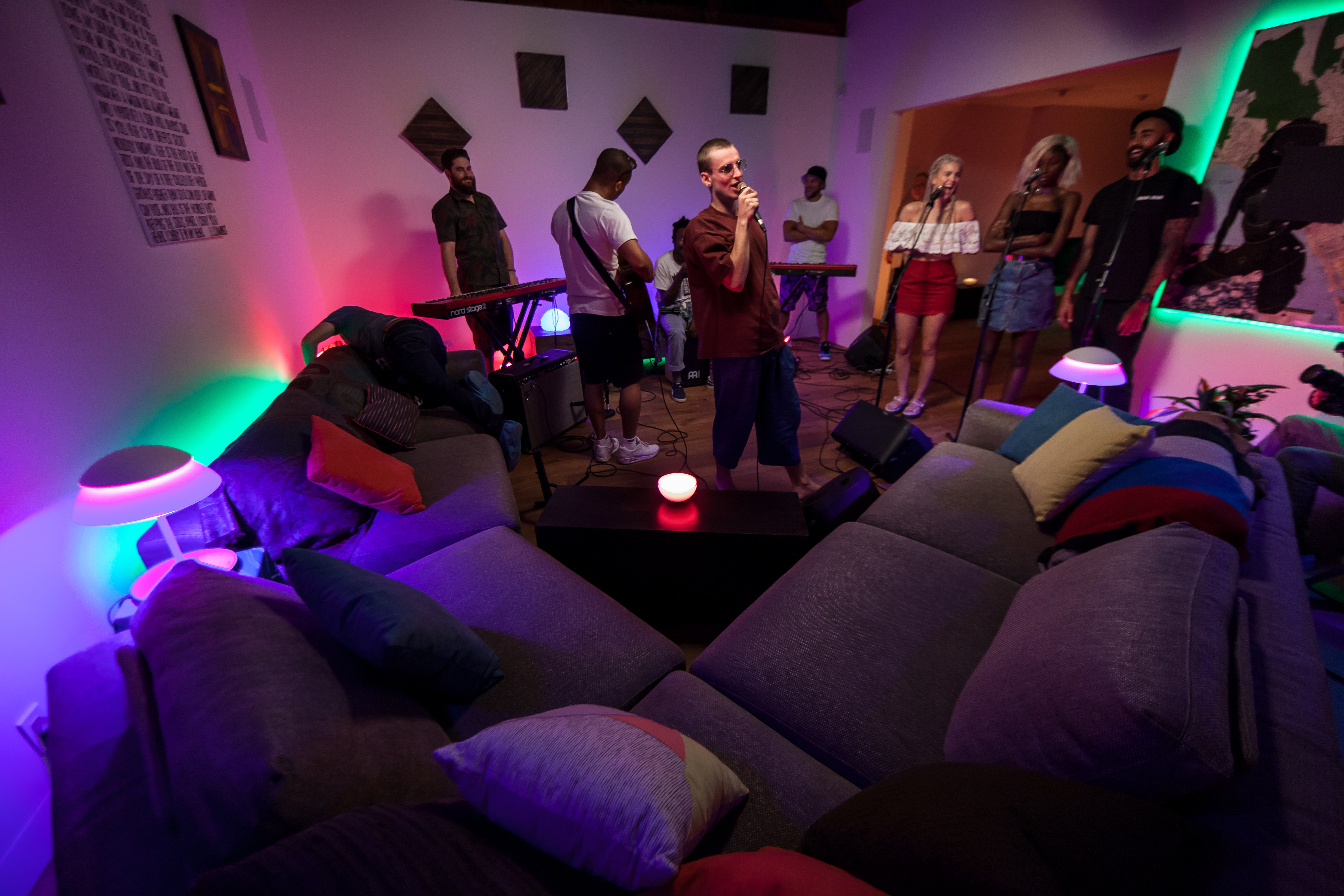 live nation and philips hue connect music and light for fans everywhere