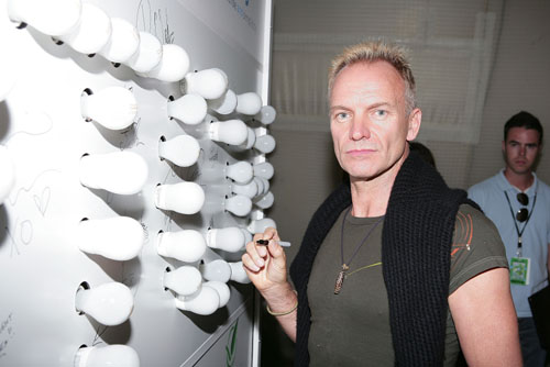 Sting/Philips visit