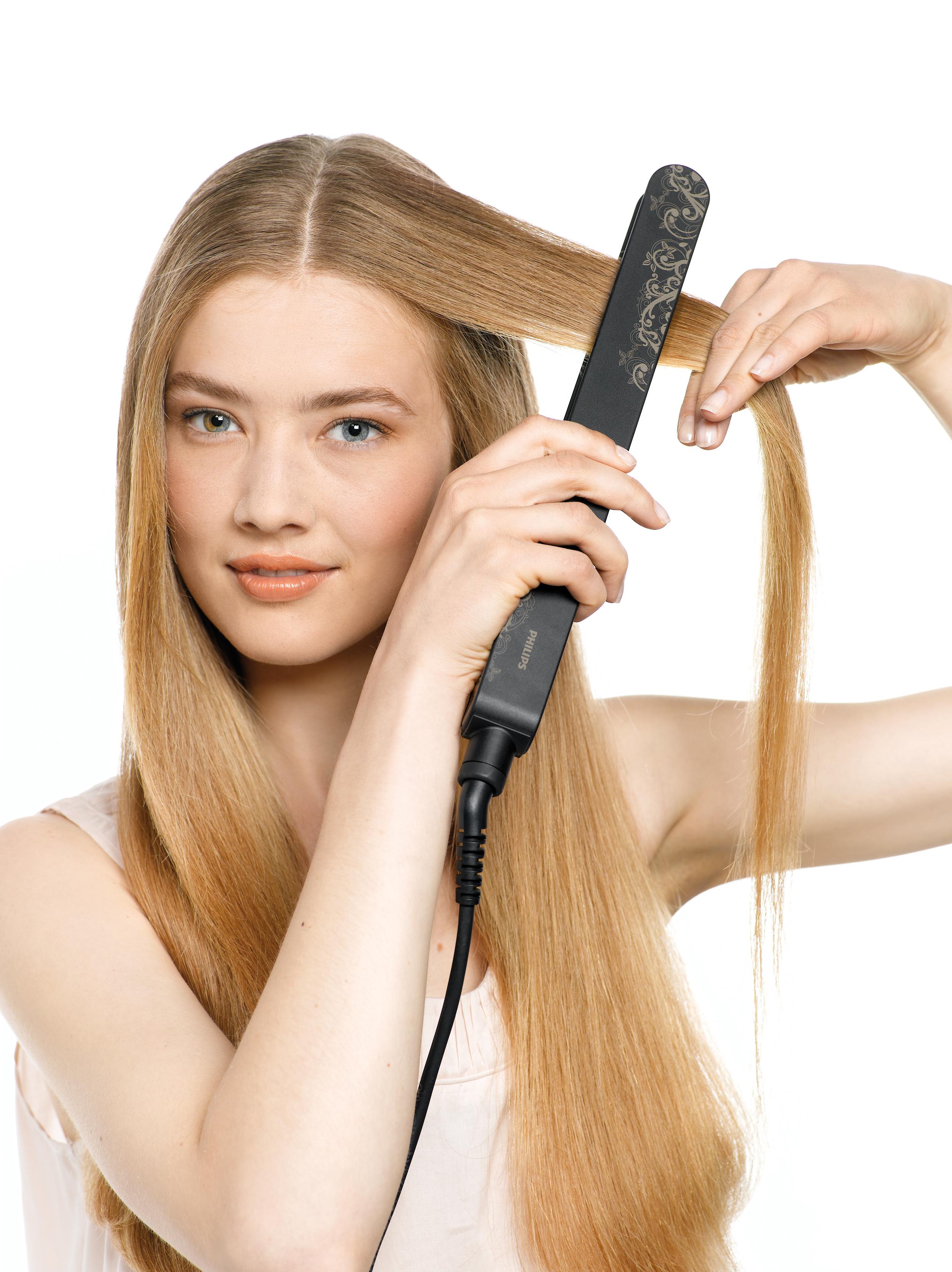 Как укладывать волосы прямые