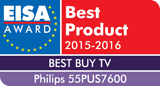 EISA AWARD: EUROPEAN BEST BUY TV 2015‐2016
