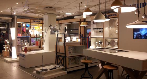 Philips r invente la lumi re au bhv marais - Bhv luminaires lampadaires ...