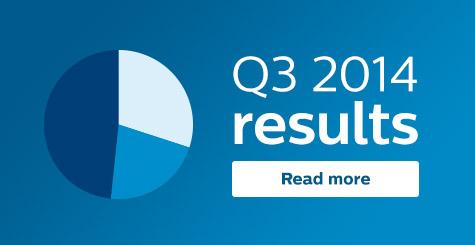 Philips maakt kwartaal cijfers (Q3 2014) bekend