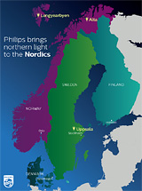 Philips Northern Lights Map