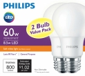At $4.95, without utility rebates, the Philips LED A19 is the most affordable 60-watt LED on the market